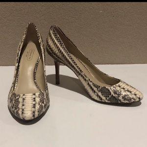 Coach Textured Reptile Print Heels